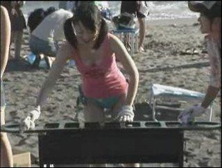 浜辺のグリル